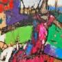 ( 45 cm + 90 cm ) acrylic on hard paper ( dancer )