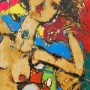 65 cm + 90 cm acrylic on hard paper ( free woman 2 )