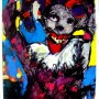 65 cm + 90 cm acrylic on hard paper ( the clown ) 2000$